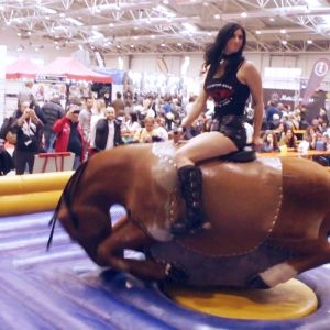 Motodays2015 11 hot girl on mechanical bull