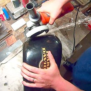 ep 29 03 cutting a sportster tank for a softail